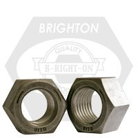 Finished Hex Nut, 1/2-13, Medium Carbon Steel, Plain, UNC, Grade 5, 100 Pack