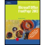 Microsoft Frontpage 2003 - Illustrated Brief, Evans, Jessica, 0619188294