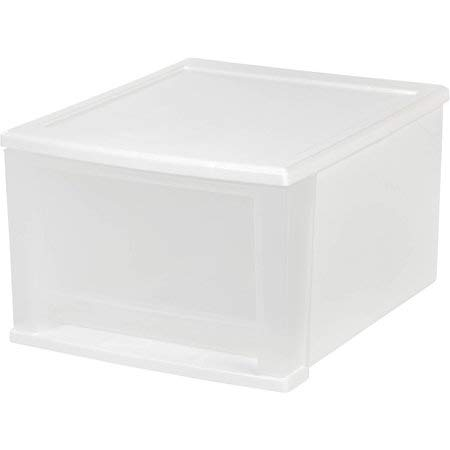IRIS 6 Quart Modular Storage Box, Clear