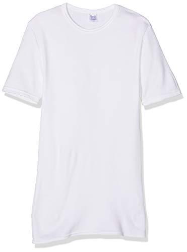 0000806 manga redondo blanco cuello invierno fibras de de Abanderado corta 001 Camiseta blanco wq1nSa