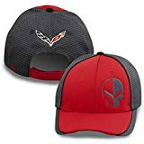 C7 Corvette Racing Jake Skull Red/Carbon Fiber Hat/Cap