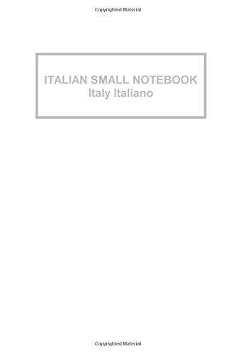 Italian Small Notebook Italy Italiano: Gifts / Gift / Presents ( Italian Flag Pocketbook / Pocket / Mini Notebook )