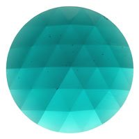 (Stained Glass Jewels - 50mm Round Faceted - Teal By Stallings Stained Glass)