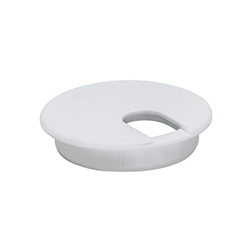 Rok Hardware 3 (76mm) Round Computer Desk Table Port Wire Cable Cord Organizer Hole Cover Grommet ROKRG3WHT (3, White, 1)