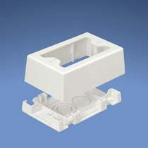 Panduit JBX3510WH-A 1-Gang Outlet Box, White, 2-Piece