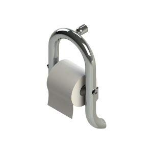 Invisia 2 in 1 Toilet Roll Holder & Grab Bar/Safety Bar Polished Chrome