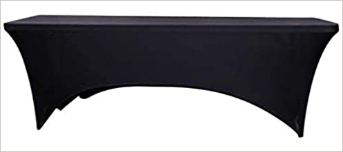 Sensational Alh Enterprise Table Cover Stretch 6Ft Fitted Table Cloth Black Table Covers For Vendor Display Weddings Trade Show Table Dj Table Banquet Download Free Architecture Designs Rallybritishbridgeorg