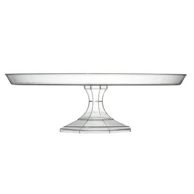 Disposable Cake Stands - Platter Pleasers Round Cake Stand (Set of 12) Color: Clear