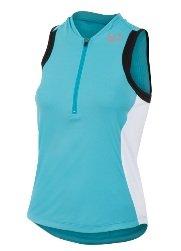 Pearl Izumi Women's Select Tri Sleeveless Jersey,Scuba Blue/White,X-Small (Select Sleeveless Jersey)