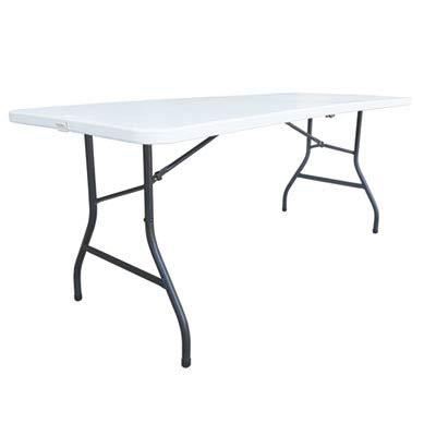 - Alera ALEFR72H Fold-in-Half Resin Folding Table, 71w x 30d x 29h, White