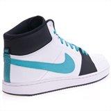 Nike, Herren Sneaker  BLANC/TURQUOISE/NOIR