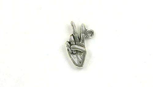 Pendant Jewelry Making/Chain Pendant/Bracelet Pendant Sterling Silver 3-D Hand with Victory or Peace Sign Charm