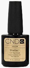 CND Shellac TOP COAT Gel UV Nail Polish 0.5 oz Manicure Soak Off Pedicure 1/2