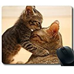 cat Kitten Muzzle Ears Cute Rectangle Mouse Pad