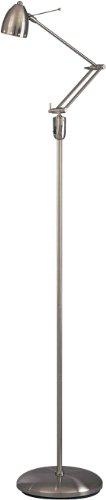 George Kovacs Halogen Floor Lamp - George Kovacs P255-084, Georges Reading Room Swing Arm Floor Lamp, Halogen, Brushed Nickel