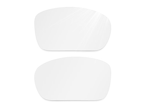 Glintbay Harden Coated Replacement Lenses for Oakley Turbine Sunglasses - Crystal Clear - Small White Sunglasses Off