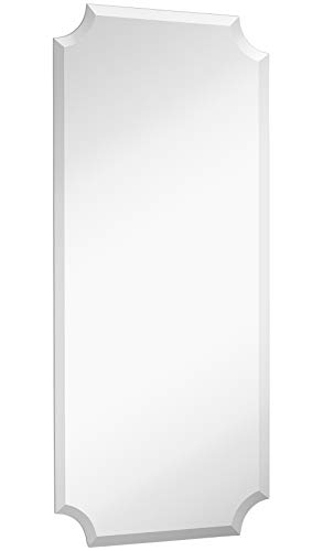 Hamilton Hills Large Beveled Scalloped Edge Full Length Wall Mirror | 1 -