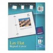 Avery 47780 Lay Flat Report Cover, 3-Fasteners, 1/2 Cap, 8.5 x 11, Blue, 1/Each Avery Plastic Report Covers