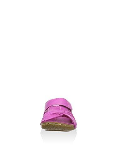 Andrea Conti 25303 Zuecos de Material Cuero Mujer Fucsia