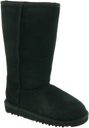 UGG Australia Infants' Classic Tall Suede Boots,Black,8 Chil