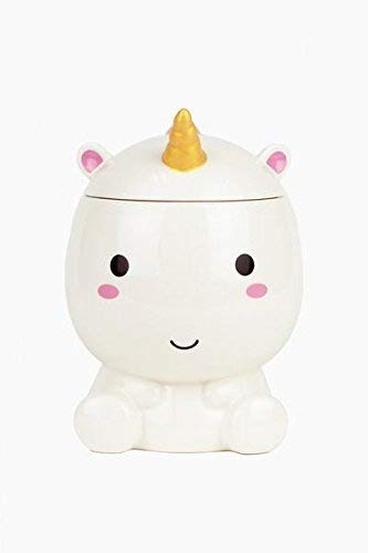SMOKO Elodie Unicorn Cookie Jar, Hand Painted Ceramic Novelty Storage for Cookies or -
