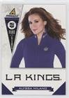 Alyssa Milano (Hockey Card) 2011-12 Pinnacle - Fans of the Game #7 (Milano Fans)
