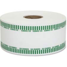 Coin-Tainer Automatic Coin Rolls, Dimes, 5, 1900 Wrappers/Roll