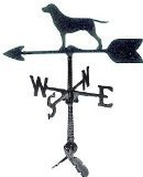 Montague Metal Products 24-Inch Weathervane with Retriever Ornament