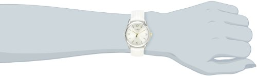 Timex Women's T2P1202M White Metallic Lizard Patterned Leather Strap Watch