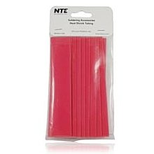 3//4 Diameter NTE Electronics 47-20906-CL Heat Shrink Tubing 2:1 Shrink Ratio Pack of 10 Thin Wall 6 Length Clear