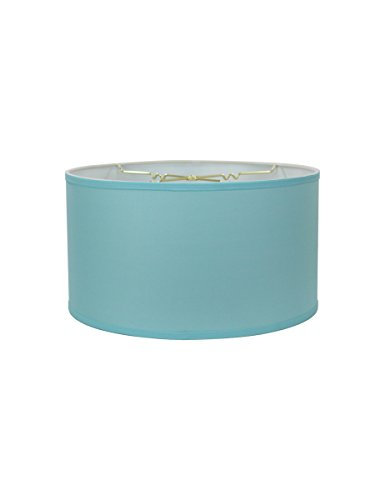14x14x7 Premium Island Paridise Blue Hardback Drum Lampshade by Home Concept - Perfect for Floor or Larger Table Lamps - Pair with a Swag Cord for an Easy Pendant ()