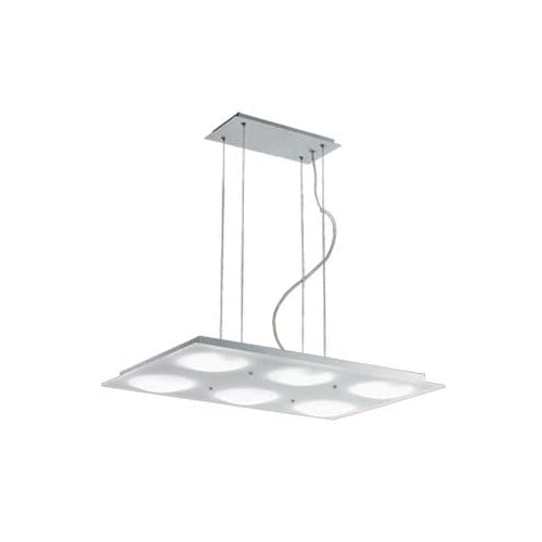 Image of Billiard Lighting Jesco Lighting PD617-6R Lumidisque Series 617 6-Light Rectangular Adjustable Pendant, Satin Aluminum