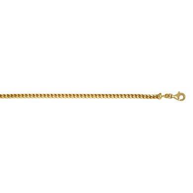 Or jaune 14 carats 3,7 mm Franco-Bracelet-JewelryWeb 7,5 cm
