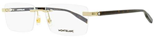 Montblanc Rimless Eyeglasses MB0055O 006 Gold/Havana 59mm 0055