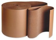 "36 feet x 36"" Single-face Corrugated B Flute Cardboard Roll."