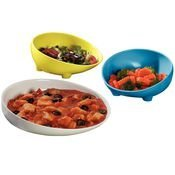 Sammons Preston Melamine Scoop Dish & Scooper Bowl (Blue Scooper Bowl)