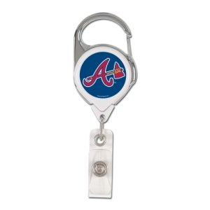 WinCraft MLB Atlanta Braves Retractable Premium Badge Holder, Team Color, One Size