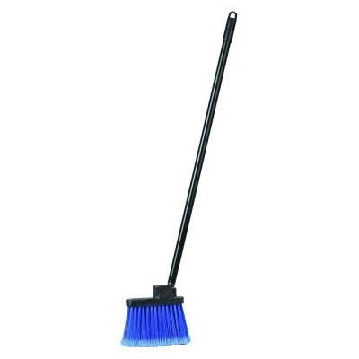 36 in. Duo-Sweep Flagged Lobby Broom with Blue Bristles, Includes Handle (Case of 12)