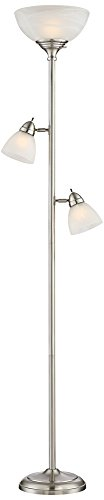 Ellery Steel Tree Torchiere Floor Lamp with LED Bulbs (Torchiere Tree)