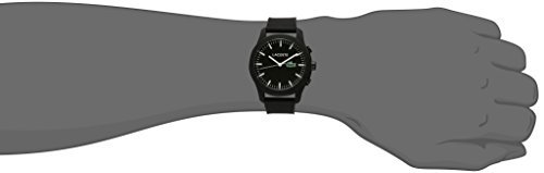 Lacoste Men's '12.12-TECH' Quartz Plastic and Rubber Smart Watch, Color:Black (Model: 2010881)