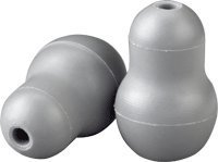 Soft Sealing Eartips, Snap Tight, Gray by 3M