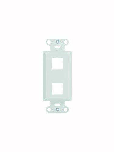 Legrand - On-Q WP3412WH10 2-Port Keystone Decorator Strap, White, 10 Pack