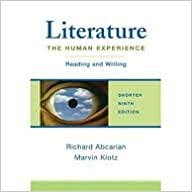 Book Literature Publisher: Bedford/St. Martin's; Ninth Edition edition