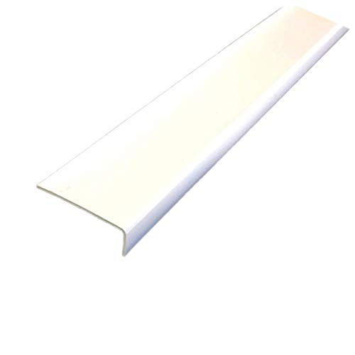 Unequal White Plastic PVC Corner 90 Degree 1M (39.37″) Trim Wall Corner Guard Edge Protector TMW Profiles (20mm x 10mm x 1M)