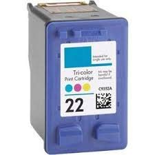 22 Imported Ink Cartridge for US INE HP Printers Tricolor