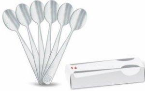6 x Illy Designer Ombra Espresso Spoons