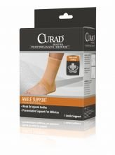 Curad Elastic Pull-Over Ankle Support with Open Heel, Small by Curad