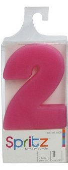 Spritz Molded # 2 Birthday Candle Pink (1 Count)