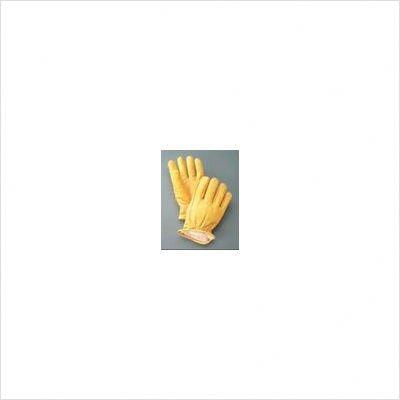 Radnor RAD64057450 Medium Yellow Deerskin Thinsulate Lined Cold Weather Gloves, Keystone Thumb, Slip On Cuffs, Double Stitched Hem/Shirred Elastic Wrist