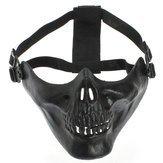 Masque - Adjustable Half Skeleton Skull Protect Mask Motorcycle Ski - Block - 1PCs -